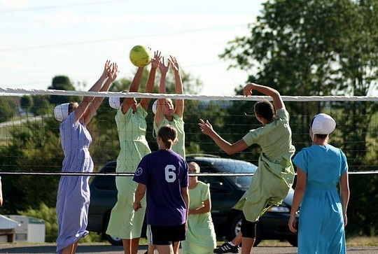amish volleyball