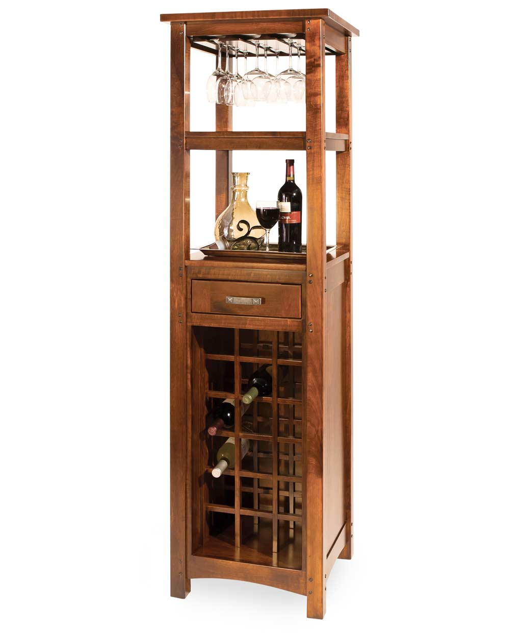 Brunswick Wine Tower Amish Direct Furniture