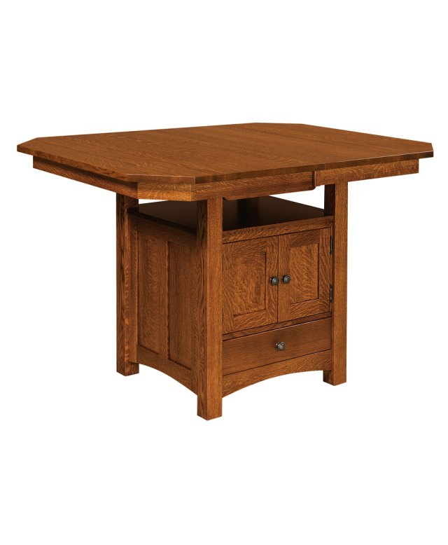 bassett cabinet table - amish direct furniture