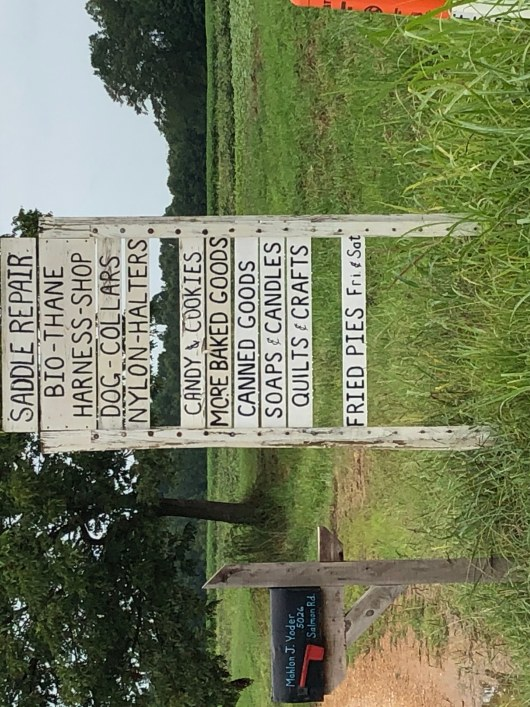 Sign at the end of Amish driveway.