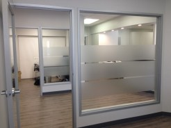 etched vinyl window treatments in Orange County