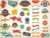 Vintage Label Banner Tag Sticker Badge Vector