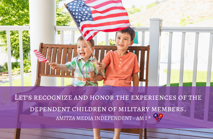 Let's Honor and recognize children of those who serve in the military