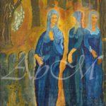 স্টপিং অ্যাট দ্য গেট : ৮০ / ৬৪.৩  cm, অয়েল  অন  ক্যানভাস , তারিখ নেই