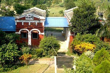 Pakshi, Pabna. Amiyabhushan's ancestral place