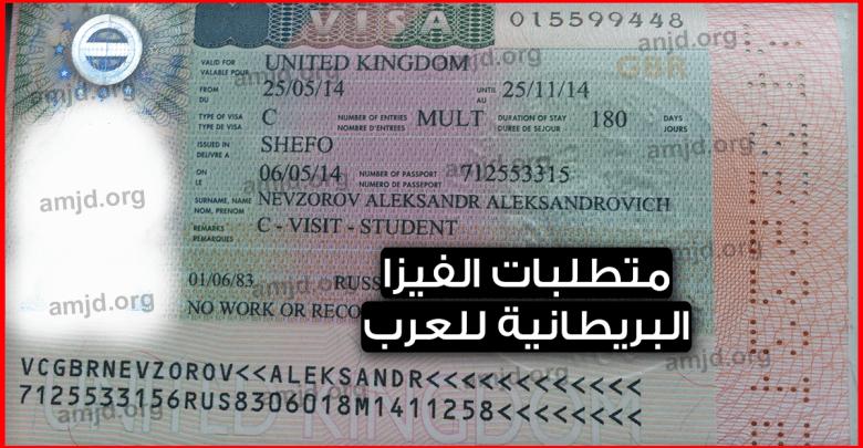 Photo of فيزا بريطانيا .. متطلبات الفيزا البريطانية 2019 بالنسبة للمواطنين العرب