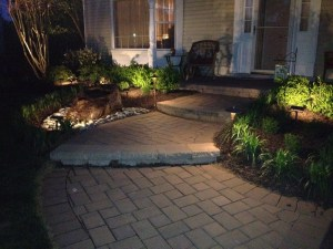Outdoor lighting steps safer