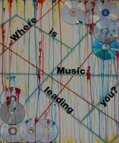 """The first piece, """"Where is Music Leading You?"""", is overlaying a subway map. The map represents the performing artist's career path. Why are they creating music and what do they hope to accomplish?"""