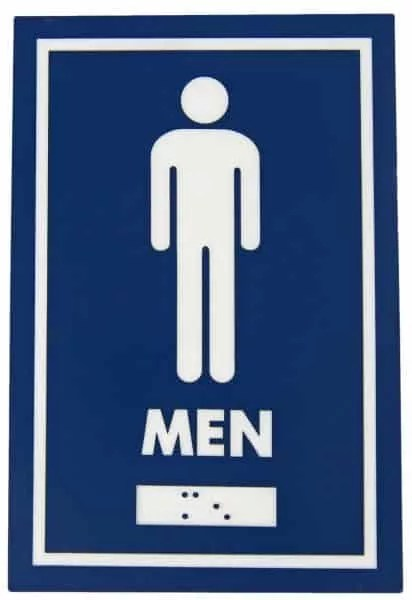 STANDARD WASHROOM SIGNAGE – Gallery