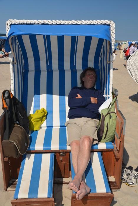 Träumen im Strandkorb