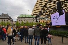 Event im Kungsträtgardeb mit SEB im Hintergrund