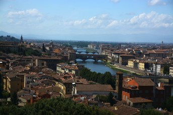 Panorama Florenz mit Ponte Vecchio