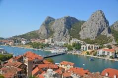 Blick von der Piratenburg auf die Cetina