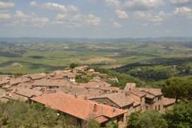 Montalcino mit Panorama