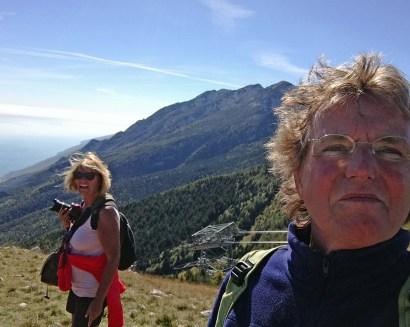 erstes Selfie auf dem Monte Baldo