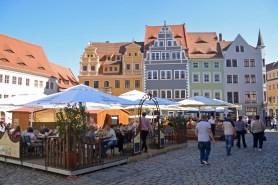 Marktplatz mit Bürgerhäusern