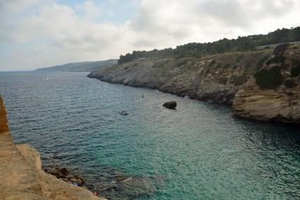 Bucht am Hausstrand von Porto Miggiano