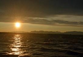 Kein Sonnenuntergang - nach dem Unwetter