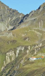 Hubschrauber auf Erkundungsflug