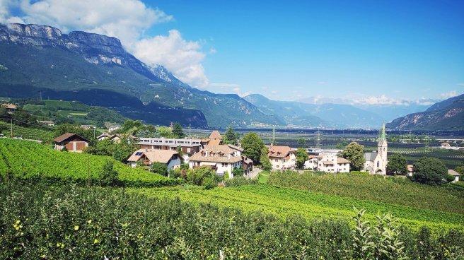 Wein- und Apfelland bei Girlan-Frangart