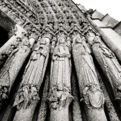 Sculptural detail from the main entrance to Riverside Church