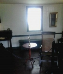Poe's rocking chair with table