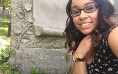 The author at Melville's tomb