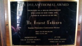 A Dylan Thomas Award, given to a writer of Welsh descent who loved New York almost as much as Thomas himself