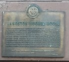 Plaque recognizing the browstone's place in literary history