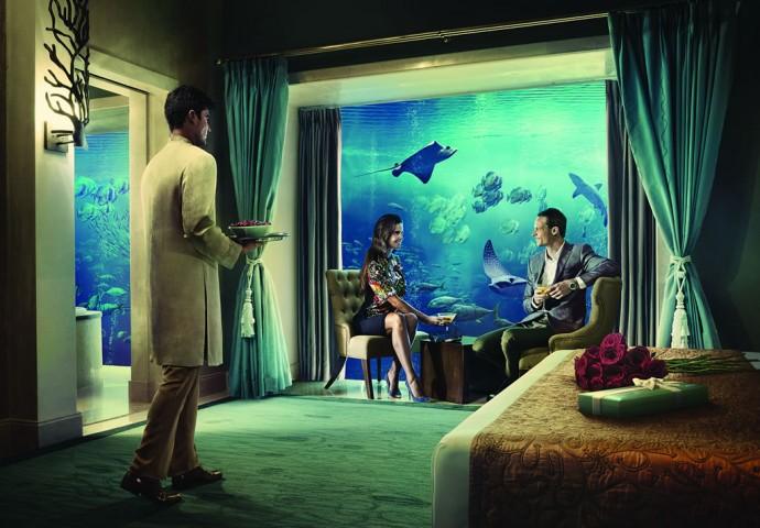 Underwater Suites At Atlantis The Palm Resort In Dubai