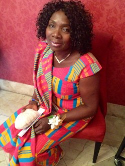 My mommy rocking her Kente cloth