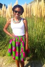 I got a cute African Print skirt