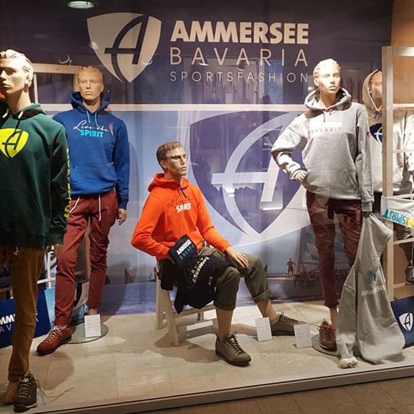 AMMERSEE BAVARIA Schaufenster mit ECO & FAIR Kollektion Modepuppen
