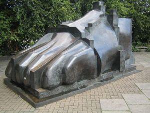 Foot sculpture by Eduardo Paolozzi