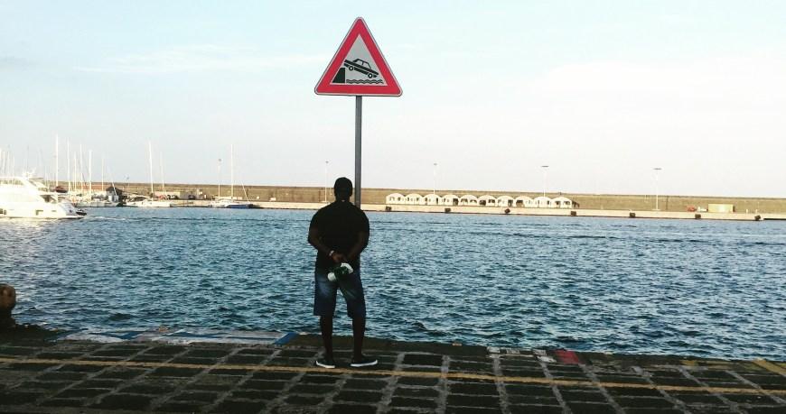 Plambech, man looking at sea, edited
