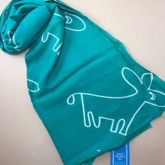 Green Donkey Outline Sarong