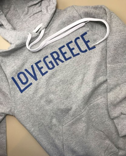 Grey LoveGreece Hoodie