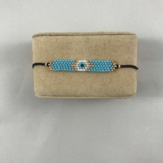 Large Aqua Beaded Band