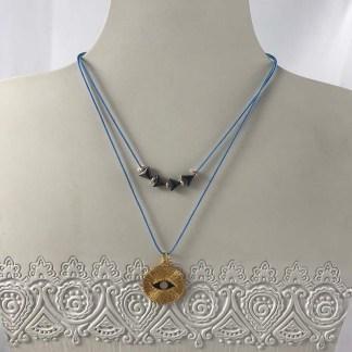 Ocean Blue Mati Double Necklace