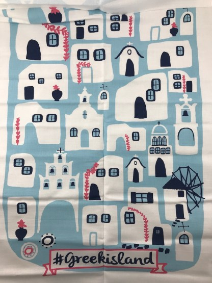 greek islands towel