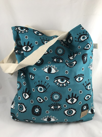 Eyes Printed Tote
