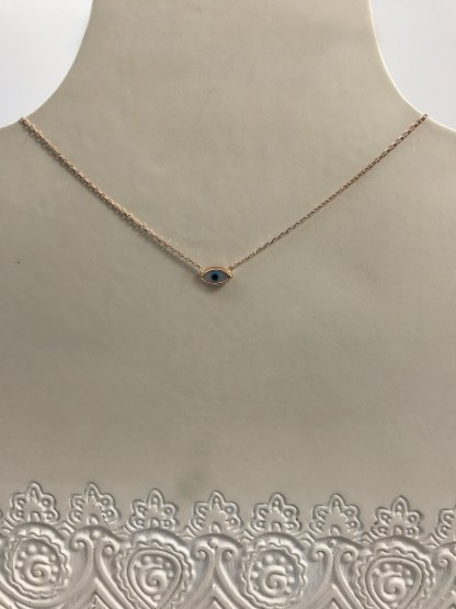 Rose Gold Syros Almond Necklace
