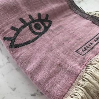 PinkBlack Mati Beach Towel Alt