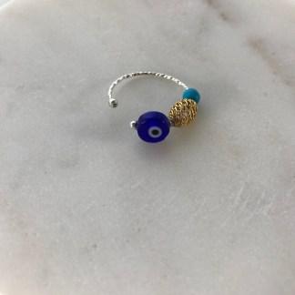 Silver Mati Ring