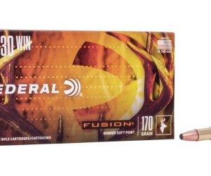 Federal Premium FUSION (FN) .30-30 Winchester 170 grain Fusion Soft Point Centerfire Rifle Ammunition