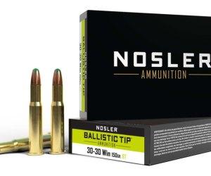 Nosler .30-30 Winchester 150 Grain Jacketed Soft Point Brass Cased Centerfire Rifle Ammunition 320rnd
