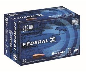 Federal Premium HORNADY V-MAX .243 Winchester 75 grain Hornady V-Max For Sale 500rnds