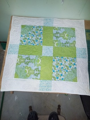Green and Blue Baby Blanket