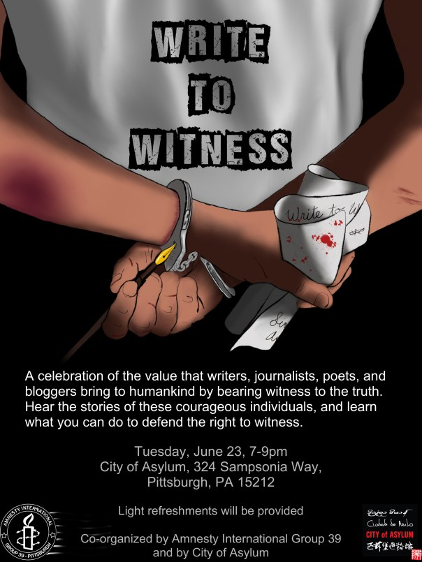 100Write to Witness June 23 2015 Flyer