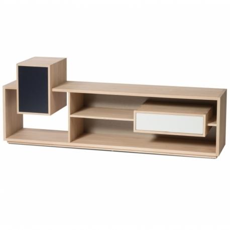 meuble tv design et personnalisable en bois massif mixage